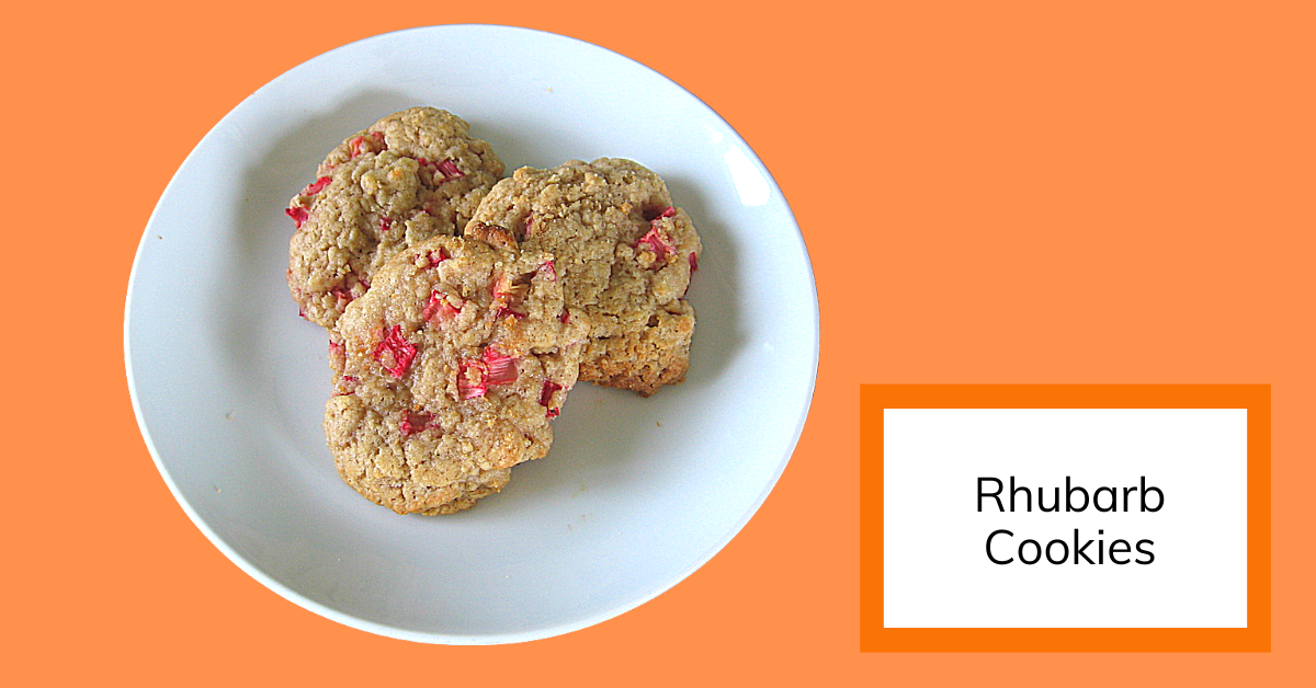 cover image for rhubarb cookies recipe
