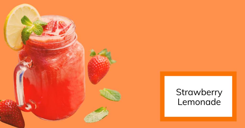 cover image of fresh homemade strawberry lemonade