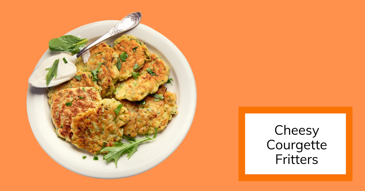 image of a plate of courgette fritters