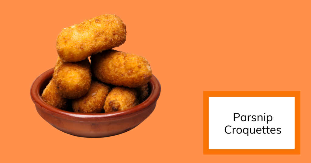 cover image for recipe of parsnip croquettes